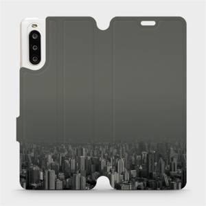 Flipové pouzdro Mobiwear na mobil Sony Xperia 10 II - V063P Město v šedém hávu