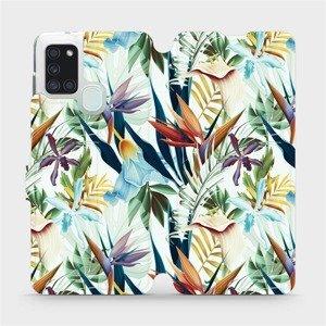 Flipové pouzdro Mobiwear na mobil Samsung Galaxy A21S - M071P Flóra