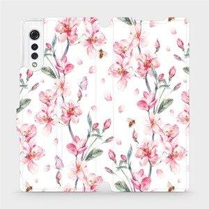 Flipové pouzdro Mobiwear na mobil LG Velvet - M124S Růžové květy