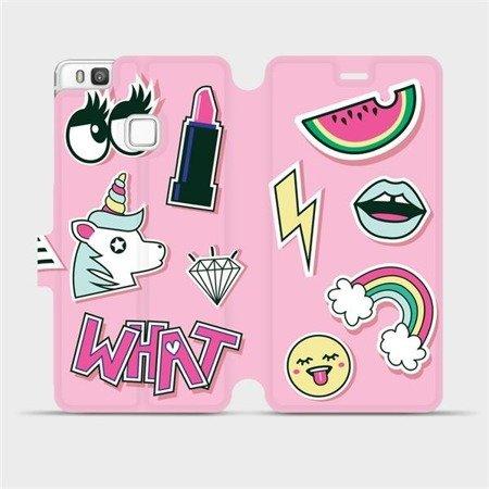 Flipové pouzdro Mobiwear na mobil Huawei P9 Lite - M129S Růžové WHAT