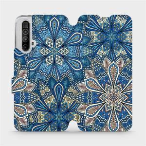 Parádní flip pouzdro Mobiwear na mobil Realme X3 SuperZoom - V108P Modré mandala květy