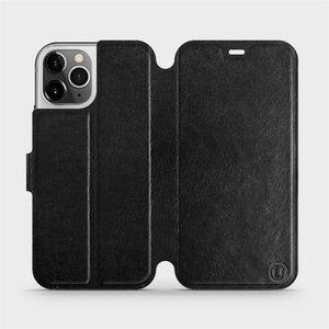 Flipové pouzdro Mobiwear na mobil Apple iPhone 12 Pro v provedení C_BLS Black&Gray s šedým vnitřkem