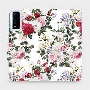 Flipové pouzdro Mobiwear na mobil Vivo Y11S - MD01S Růže na bílé