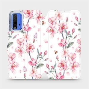 Flipové pouzdro Mobiwear na mobil Xiaomi Redmi 9T - M124S Růžové květy