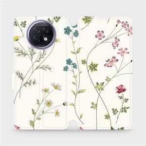 Flipové pouzdro Mobiwear na mobil Xiaomi Redmi Note 9T 5G - MD03S Tenké rostlinky s květy