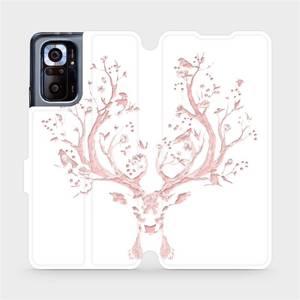 Flipové pouzdro Mobiwear na mobil Xiaomi Redmi Note 10 Pro - M007S Růžový jelínek