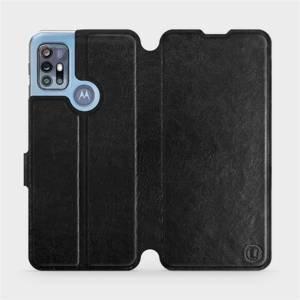 Flipové pouzdro Mobiwear na mobil Motorola Moto G20 v provedení C_BLS Black&Gray s šedým vnitřkem
