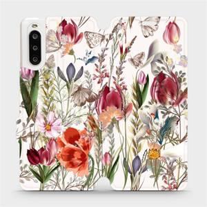 Flip pouzdro Mobiwear na mobil Sony Xperia 10 II - MP01S Rozkvetlá louka