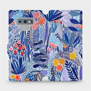 Flip pouzdro Mobiwear na mobil Samsung Galaxy Note 9 - MP03P Modrá květena