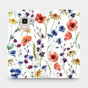 Flip pouzdro Mobiwear na mobil Samsung Galaxy J6 2018 - MP04S Luční kvítí