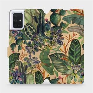 Flip pouzdro Mobiwear na mobil Samsung Galaxy A71 - VP05S Sukulenty