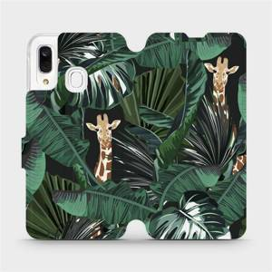 Flip pouzdro Mobiwear na mobil Samsung Galaxy A40 - VP06P Žirafky