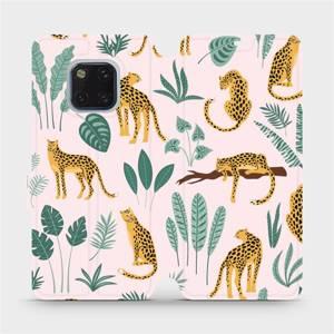 Flip pouzdro Mobiwear na mobil Huawei Mate 20 Pro - MP07S Leopardi