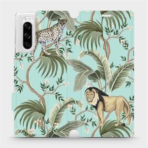 Flip pouzdro Mobiwear na mobil Sony Xperia 5 - MP08S Dvě kočičky
