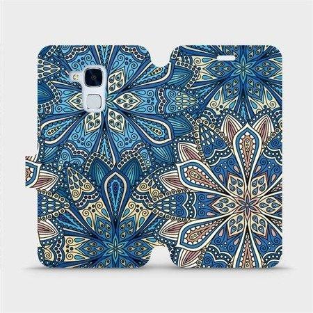Flipové pouzdro Mobiwear na mobil Honor 7 Lite - V108P Modré mandala květy