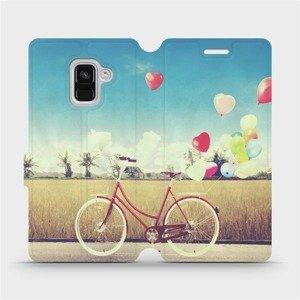 Flipové pouzdro Mobiwear na mobil Samsung Galaxy A8 2018 - M133P Kolo a balónky