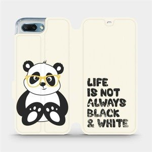 Flipové pouzdro Mobiwear na mobil Honor 10 - M041S Panda - life is not always black and white