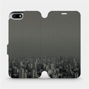 Flipové pouzdro Mobiwear na mobil Honor 7S - V063P Město v šedém hávu