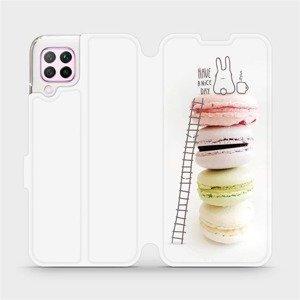 Flipové pouzdro Mobiwear na mobil Huawei P40 Lite - M090P Makronky - have a nice day