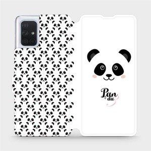 Flipové pouzdro Mobiwear na mobil Samsung Galaxy A71 - M030P Panda Amálka