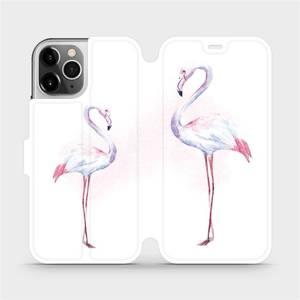 Flipové pouzdro Mobiwear na mobil Apple iPhone 12 Pro - M005S Plameňáci