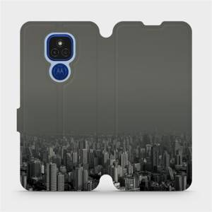 Flipové pouzdro Mobiwear na mobil Motorola Moto E7 Plus - V063P Město v šedém hávu