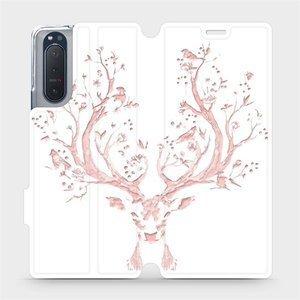 Flipové pouzdro Mobiwear na mobil Sony Xperia 5 II - M007S Růžový jelínek