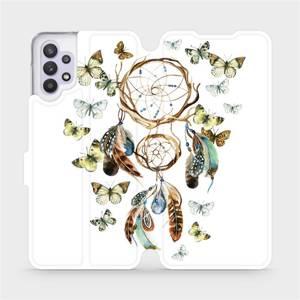 Flipové pouzdro Mobiwear na mobil Samsung Galaxy A32 5G - M001P Lapač a motýlci