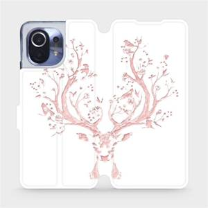 Flipové pouzdro Mobiwear na mobil Xiaomi Mi 11 - M007S Růžový jelínek