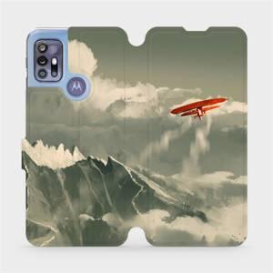 Flipové pouzdro Mobiwear na mobil Motorola Moto G30 - MA03P Oranžové letadlo v horách