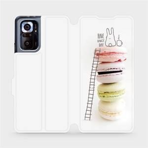 Flipové pouzdro Mobiwear na mobil Xiaomi Redmi Note 10 Pro - M090P Makronky - have a nice day