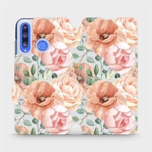 Flip pouzdro Mobiwear na mobil Honor 20 Lite - MP02S Pastelové květy