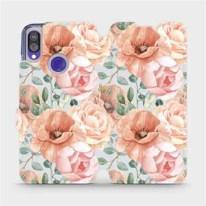 Flip pouzdro Mobiwear na mobil Xiaomi Redmi Note 7 - MP02S Pastelové květy