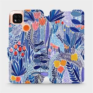 Flip pouzdro Mobiwear na mobil Xiaomi Redmi 9C - MP03P Modrá květena