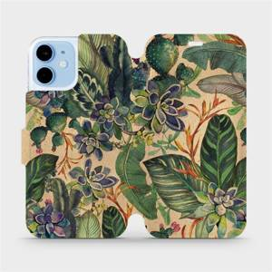 Flip pouzdro Mobiwear na mobil Apple iPhone 12 Mini - VP05S Sukulenty