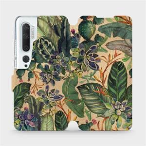 Flip pouzdro Mobiwear na mobil Xiaomi Mi Note 10 - VP05S Sukulenty