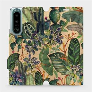 Flip pouzdro Mobiwear na mobil Sony Xperia 5 III - VP05S Sukulenty