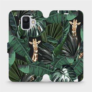 Flip pouzdro Mobiwear na mobil Samsung Galaxy A6 2018 - VP06P Žirafky