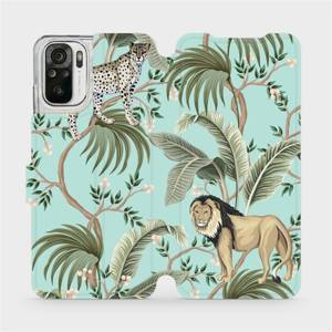 Flip pouzdro Mobiwear na mobil Xiaomi Redmi Note 10s - MP08S Dvě kočičky