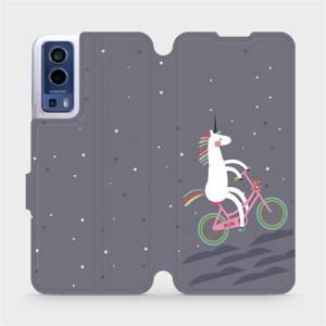 Flip pouzdro Mobiwear na mobil Vivo Y72 5G / Vivo Y52 5G - V024P Jednorožec na kole