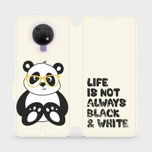Flip pouzdro Mobiwear na mobil Nokia G10 - M041S Panda - life is not always black and white