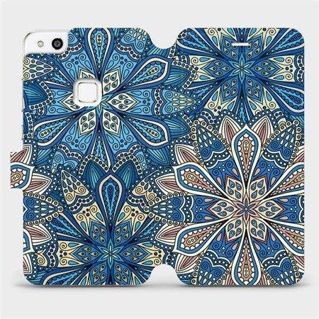 Flipové pouzdro Mobiwear na mobil Huawei P10 Lite - V108P Modré mandala květy