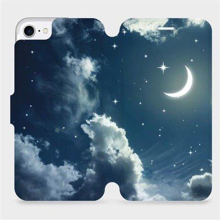 Flipové pouzdro Mobiwear na mobil Apple iPhone 7 - V145P Noční obloha s měsícem