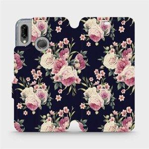 Flipové pouzdro Mobiwear na mobil Huawei P20 Lite - V068P Růžičky