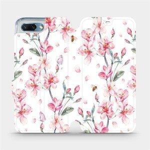 Flipové pouzdro Mobiwear na mobil Honor 10 - M124S Růžové květy