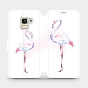 Flipové pouzdro Mobiwear na mobil Samsung Galaxy J6 2018 - M005S Plameňáci
