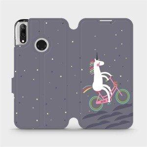 Flipové pouzdro Mobiwear na mobil Huawei Y7 2019 - V024P Jednorožec na kole
