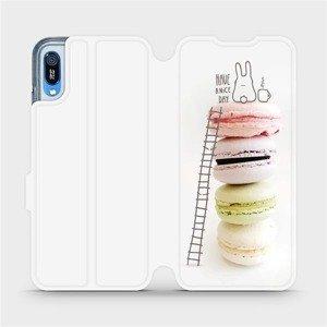 Flipové pouzdro Mobiwear na mobil Huawei Y6 2019 - M090P Makronky - have a nice day