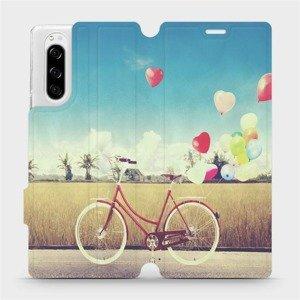 Flipové pouzdro Mobiwear na mobil Sony Xperia 5 - M133P Kolo a balónky