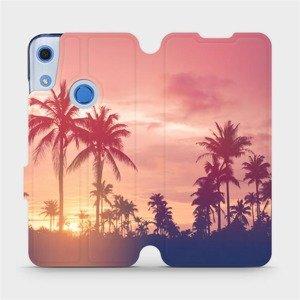 Flipové pouzdro Mobiwear na mobil Huawei Y6S - M134P Palmy a růžová obloha